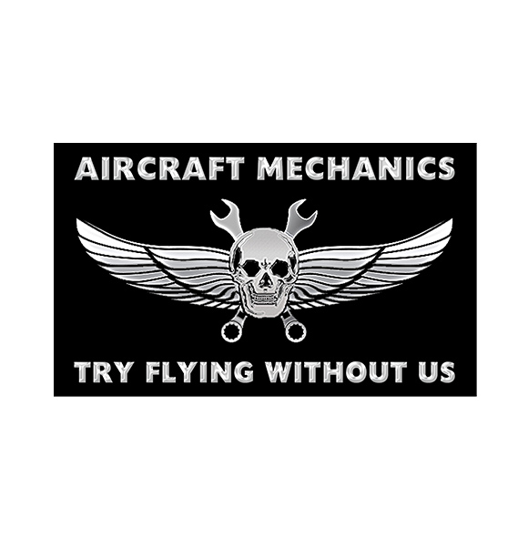 Try flying without us 3 x 5 decal goam swag shop for Youtube certified mechanic shirt