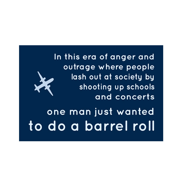 new just wanted to do a barrel roll 4 x 6 decal goam swag shop